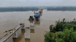 Sprzęt ewakuowany, budowa mostu Południowego wstrzymana