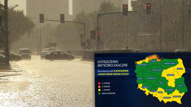 Uwaga na intensywne opady deszczu tvnwarszawa.pl