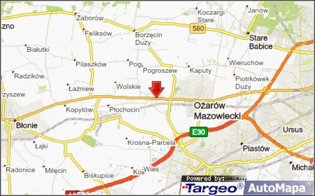 Zablokowana droga krajowa nr 2 w Ołtarzewie targeo