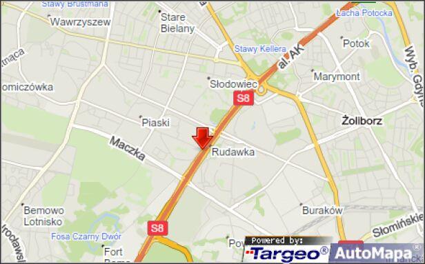 Pożar auta na S8 Mapy Targeo