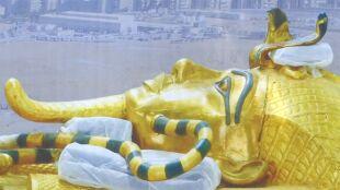 """O """"klątwie faraona"""" mówiono latami. Teraz pokryty złotem sarkofag będzie odnowiony"""