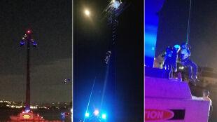 Turyści utknęli w gondolach nad wodami zatoki. Nocna akcja ratunkowa