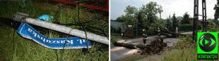 Śląsk usuwa szkody po burzach. Strażacy wyjeżdżali ponad 200 razy