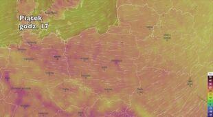 Temperatura w najbliższych dniach (ventusky.com)