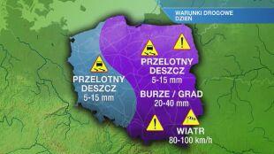 Warunki drogowe we wtorek 27.07